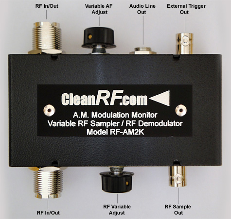 "CleanRF Technologies ""RF-AM2K"" AM Modulation Monitor / Variable RF Sampler"